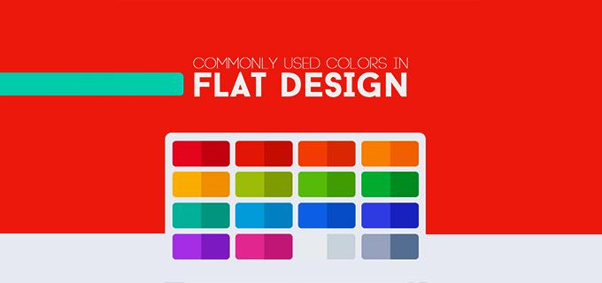 رنگ های مورد استفاده در flat design